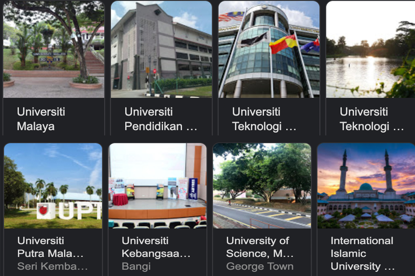 List of Malaysian Public and Private Universities